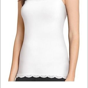 Jockey white lace trim camisole tang top